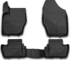 Коврики в салон для Citroen C4 '13-, седан полиуретановые, черные (Novline) 3D