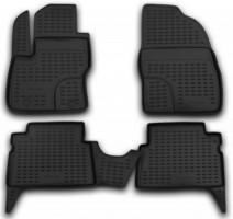 Коврики в салон для Ford Kuga '08-13 полиуретановые, черные (Novline / Element)