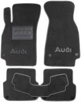 Коврики в салон для Audi A6 '05-10 текстильные, серые (Люкс) 8 клипс