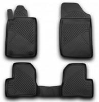 Коврики в салон для Peugeot 206 '98-09 полиуретановые, черные (Novline / Element) EXP.D000000013