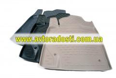 Фото 2 - Коврики в салон для Toyota Land Cruiser Prado 150 '10-13 полиуретановые, серые (Novline)