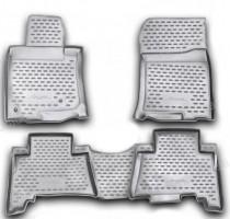 Коврики в салон для Toyota Land Cruiser Prado 150 '10-13 полиуретановые, серые (Novline / Element)
