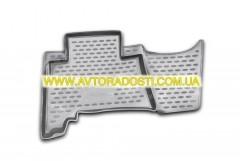 Фото 8 - Коврики в салон для Toyota Land Cruiser Prado 150 '10-13 полиуретановые, серые (Novline)
