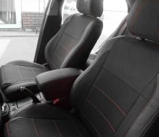 Авточехлы Premium для салона Toyota Avensis '03-08 красная строчка (MW Brothers)