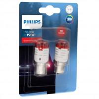 Автомобильные лампочки Philips Ultinon Pro3000 LED P21W красные (2 шт.)