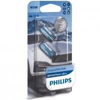 Автомобильные лампочки Philips White Vision  W5W 5W 12V 3300K