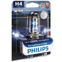 Автомобільна лампочка Philips Racing Vision GT200 H4 60/55W 12V 3600K
