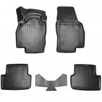 Килимки в салон 3D для Volkswagen Polo '17- поліуретанові, чорні (Nor-Plast)