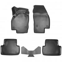 Килимки в салон 3D для Volkswagen T-Cross '19- поліуретанові, чорні (Nor-Plast)