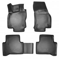 Килимки в салон 3D для Volkswagen Touran '16- поліуретанові, чорні (Nor-Plast)