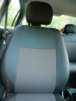 Авточехлы Premium для салона Opel Astra G '98-10 красная строчка (MW Brothers)