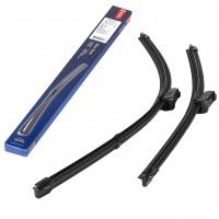 Щетки стеклоочистителя бескаркасные Denso Flat Blade 600 и 475 мм Push Button 16mm (к-кт) DF-015