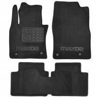 Коврики в салон Mazda CX-30 '19-, текстильные, черные (Премиум) 4 клипсы