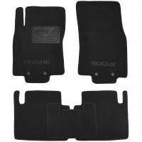 Коврики в салон для Nissan Rogue '14-20, текстильные, черные (Люкс) 4 клипсы