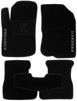 Коврики в салон для Peugeot 208 '12- текстильные, черные (Люкс)