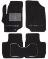 Коврики в салон для Citroen C-Elysee '13- текстильные, серые (Люкс)  2 клипсы