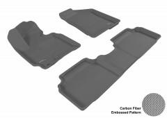 Коврики в салон для Kia Sportage '10-15 текстильные 3D, черные (3D Mats)