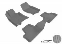 Коврики в салон для Hyundai ix-35 '10- текстильные 3D, серые (3D Mats)