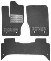 Коврики в салон для Land Rover Range Rover '13- текстильные, серые (Люкс)