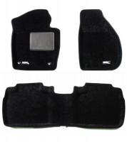 Коврики в салон для Skoda Superb '09-14 текстильные 3D, черные (3D Mats)