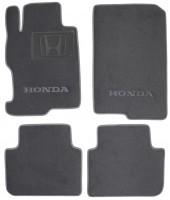 Коврики в салон для Honda Accord '13- текстильные, серые (Люкс) 2 клипсы