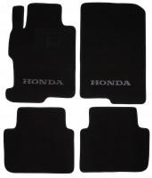 Коврики в салон для Honda Accord '13- текстильные, черные (Люкс)
