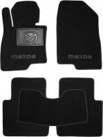 Коврики в салон для Mazda 6 '13- текстильные, черные (Люкс)