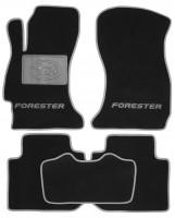 Коврики в салон для Subaru Forester '13-18 текстильные, серые (Люкс)