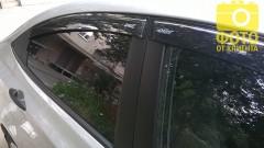 Дефлекторы окон для Hyundai Accent (Solaris) '11-17, седан (Azard)