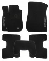 Коврики в салон для Renault Logan '13- текстильные, черные (Люкс) 2 клипсы