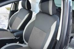 Авточехлы Premium для салона Kia Venga '10- серая строчка (MW Brothers)
