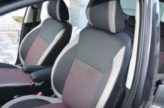 Авточехлы Premium для салона Kia Venga '10- красная строчка (MW Brothers)