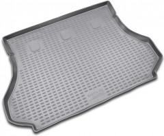 Коврик в багажник для Hyundai Santa Fe '01-06 SM, полиуретановый (Novline / Element) серый