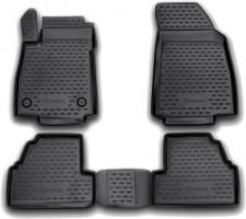 Коврики в салон для Opel Mokka '12- полиуретановые, черные (Novline)