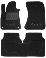 Textile-Pro Коврики в салон для Audi A8 '10-17 текстильные, черные (Премиум) Long, 2 клипсы