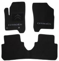 Коврики в салон для Citroen C3 '10- Picasso текстильные, черные (Люкс) 2 клипсы