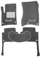Коврики в салон для Audi Q7 '05-14 текстильные, серые (Премиум) 8 клипс