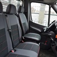 Авточохли Premium для салону Mercedes Sprinter '06- червона строчка (1+2) (MW Brothers)