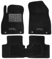 Коврики в салон для Opel Insignia '09- текстильные, черные (Люкс) 4 клипсы
