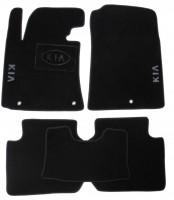 Коврики в салон для Kia Cerato '13-17 текстильные, черные (Люкс)