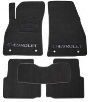 Коврики в салон для Chevrolet Malibu '12- текстильные, черные (Премиум)