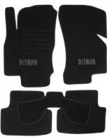 Коврики в салон для Skoda Octavia A7 '13- текстильные, черные (Люкс)