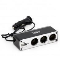 Разветвитель прикуривателя AMiO, USB SOC3, 01706
