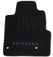 Фото 5 - Коврики в салон для Honda Pilot 08- текстильные, черные (Премиум) 1+2+3 ряд