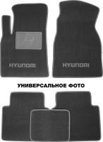 Коврики в салон для Hyundai Grandeur '05-11 текстильные, серые (Премиум)