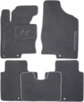 Коврики в салон для Hyundai Grandeur '12- текстильные, серые (Премиум)