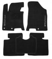 Коврики в салон для Hyundai i40 '12- текстильные, черные (Премиум)