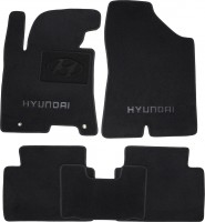 Коврики в салон для Hyundai i30 FL '13-16 текстильные, черные (Премиум)