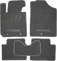 Коврики в салон для Hyundai Veloster '11- текстильные, серые (Премиум)