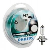 Автомобильная лампочка Philips X-tremeVision +100% H7 12V 55W (комплект: 2 шт.)